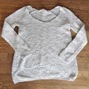 Zara Knit Cream Green Heathered Sweater S